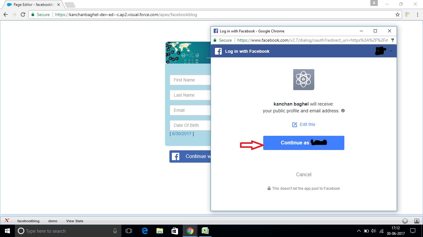 Continue with facebook sign up with email - After Clicking On Login Button A Window Will Pop Up Asking You To Login To Your Facebook Account Enter Your Valid Email And Password And Click On Login