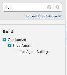 live agent settings